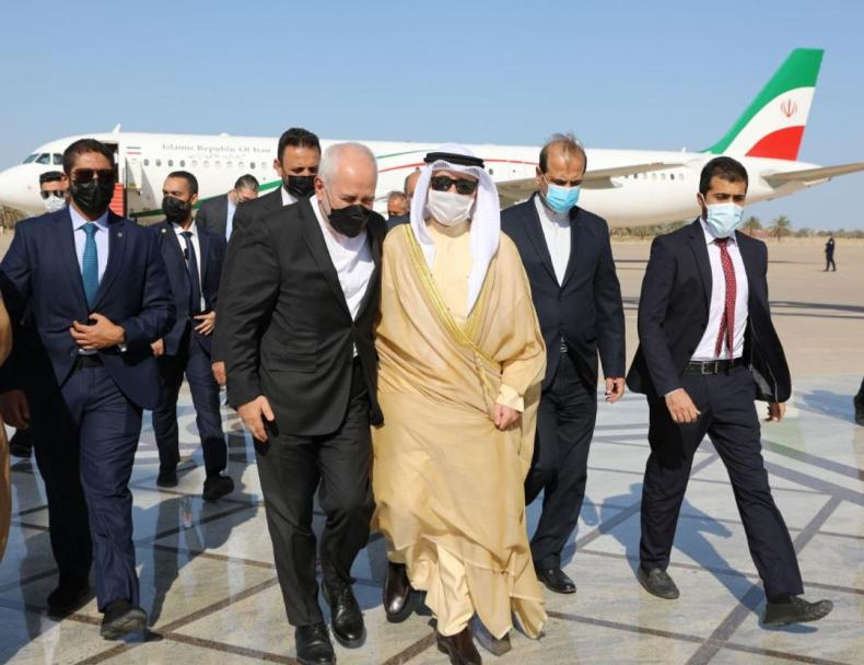 iran, zarif, kuwait, airport