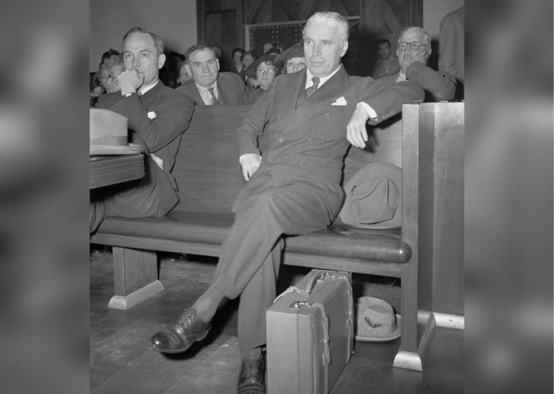 1943: Accused in paternity suit
