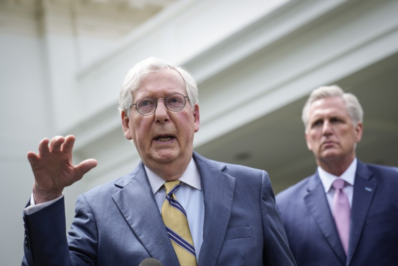 McConnell Speaks Outside the White House