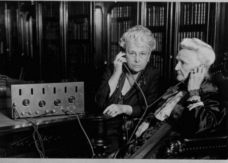 Americans tune into the radio