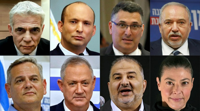 Israel, new, government, coalition, eight, parties