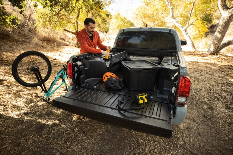 2022 Toyota Tacoma Trail Edition bed cooler