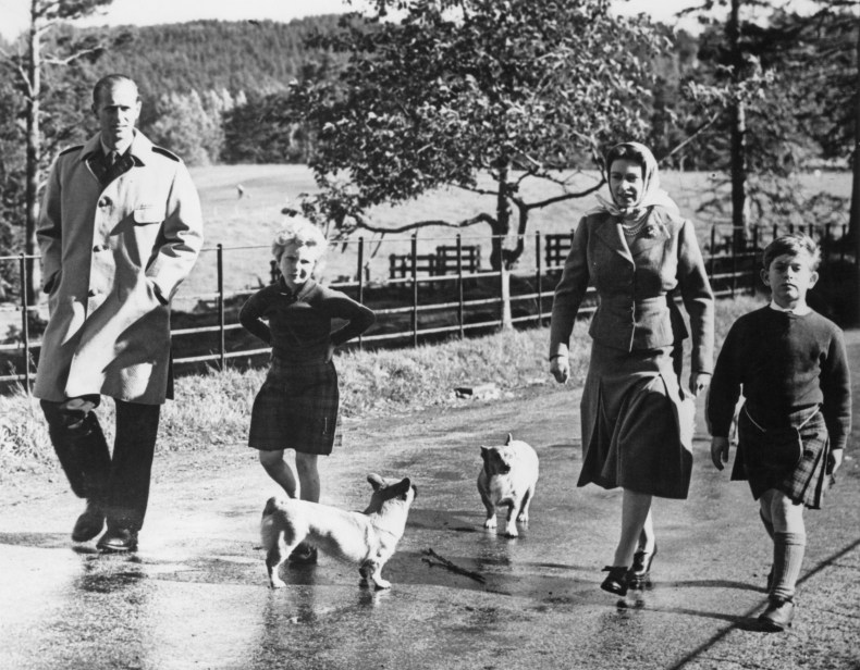 Queen Elizabeth II and Family Walk Corgis