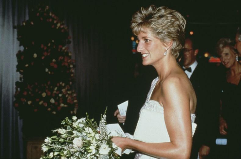 Princess Diana in Off-the-Shoulder Dress