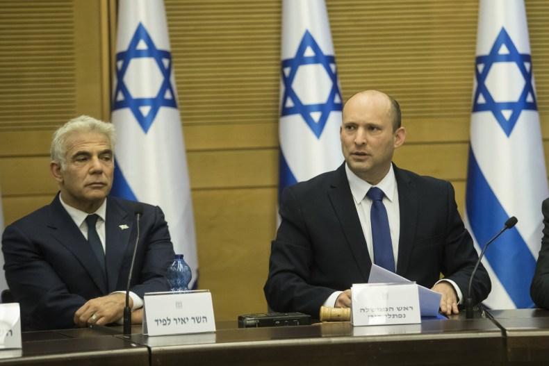 Yair Lapid and Naftali Bennett Israel coalition