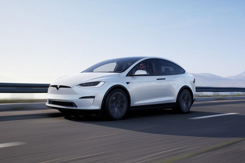 2021 Tesla Model X front profile side