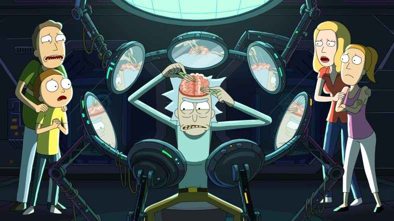 Still from Season 5 Rick and Morty