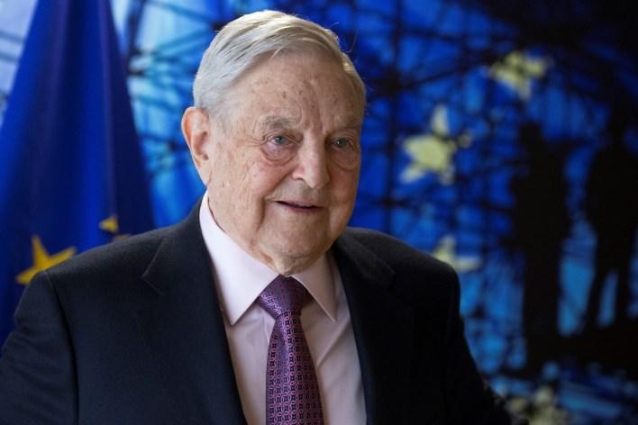 George Soros in Brussels