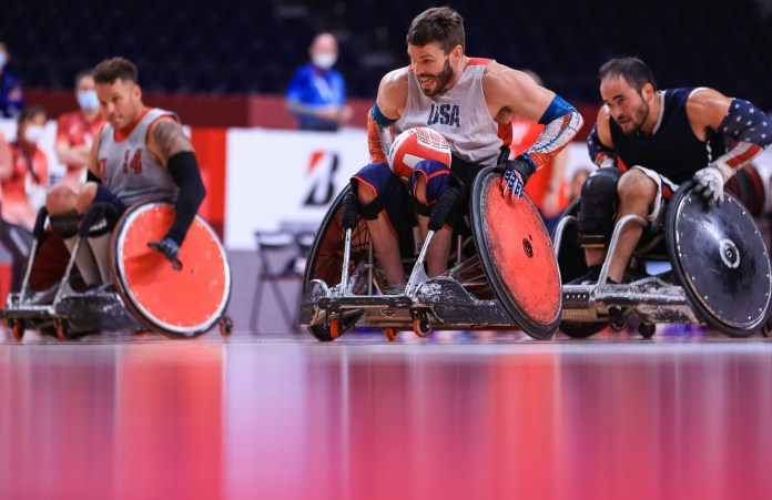 Team USA's Joshua Wheeler at 2020 Paralympics.