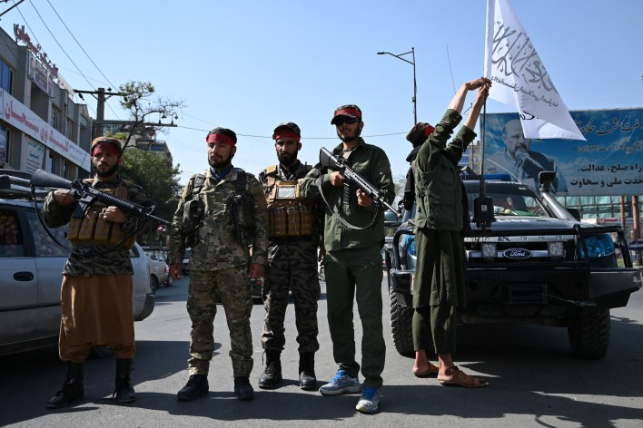Taliban Stand Guard in Afghanistan
