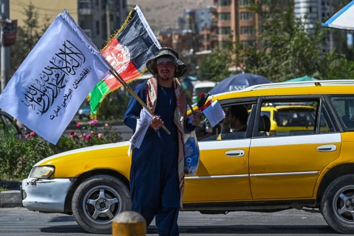Vendor Sells Taliban Flags