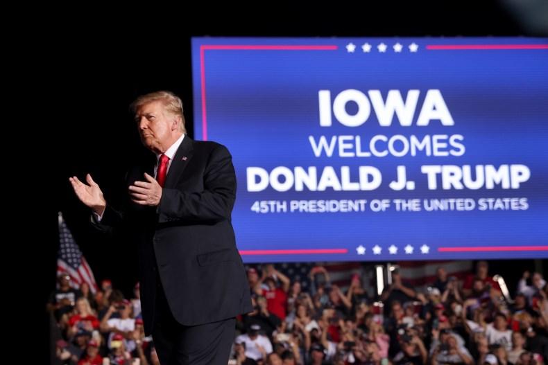 Donald Trump Iowa Des Moines MAGA Republican
