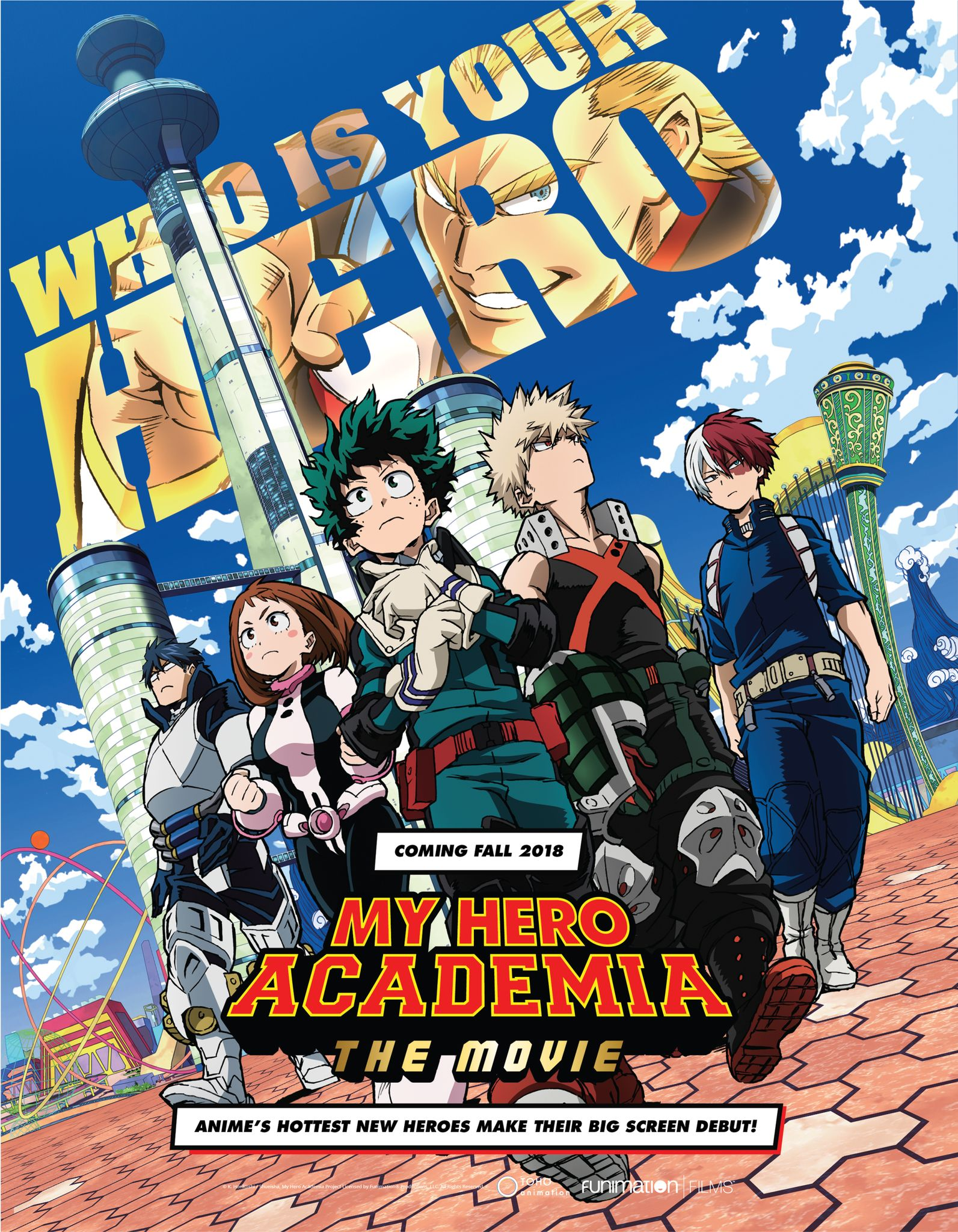 My Hero Academia : Two Heroes : academia, heroes, Academia', Movie, Connects, Manga,, Creator