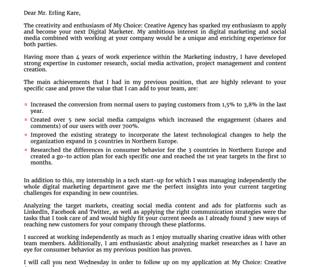 Cover Letter English Receptionist, Functional Cover Letter Template, Cover Letter English Receptionist