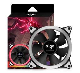 【aigo】愛國者 極光 12公分RGB光環風扇 智能變色 小6Pin接頭 - 露天拍賣