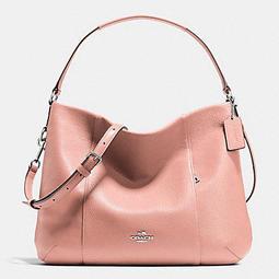 成本價~COACH 35809專櫃款粉色軟皮革肩背/斜背兩用包 - 露天拍賣