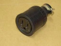 橡膠母插頭 接地電纜線中間插座 H型 15A 125V 臺灣製造 - 露天拍賣