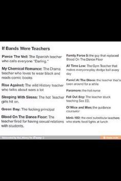 Falling In Reverse Wallpaper Lyrics Panic At The Disco Text Posts If Bands Were Teachers