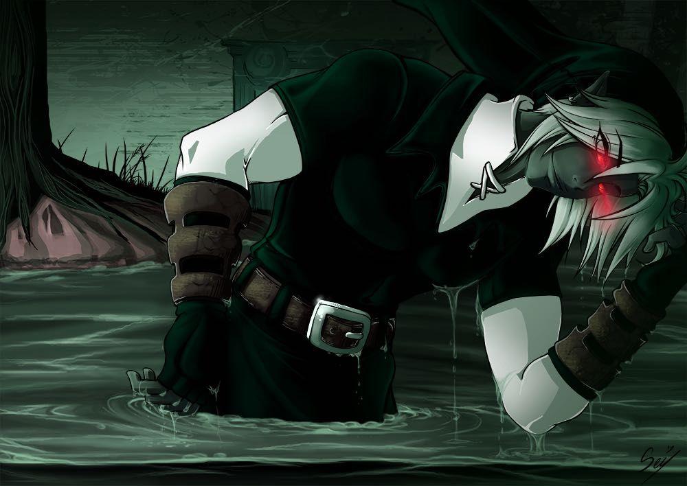 Anime Wallpaper Sad Hoodie Girl Creepypastian Witchcraft Nintendo 64 Dark Link Summoning