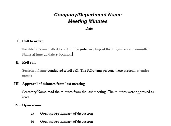 While there are many nonprofit board meeting minute templates. 13 Meeting Minutes Templates To Help You Ace Your Nonprofit Board Meeting