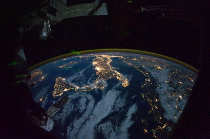This image taken from the International Space ...
