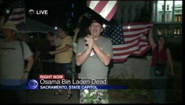 Small Crowd Gathers At Capitol After News Of Bin Laden's Death