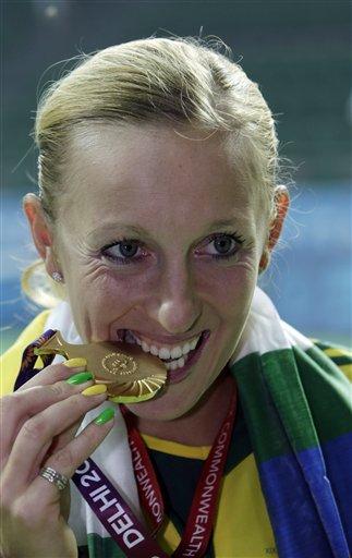 Gold Winner Australia's Anastasia Rodionova Displays