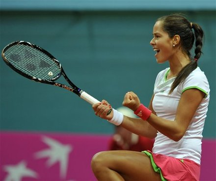 Ana Ivanovic Of Serbia Celebrates