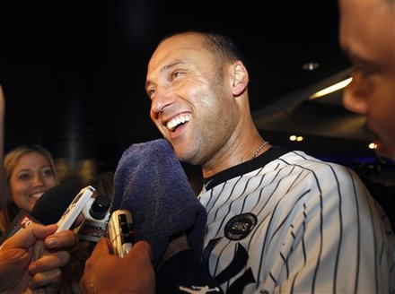 New York Yankees Derek Jeter Smiles