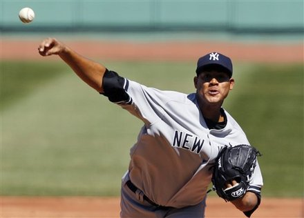 New York Yankees Starting Pitcher Ivan Nova (47) Delivers