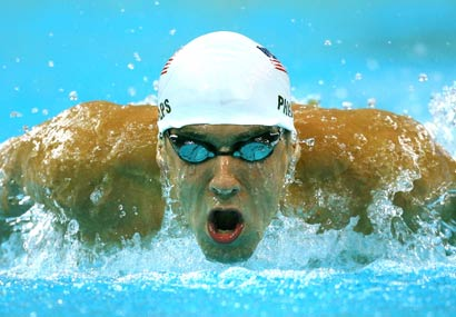 Michael Phelps looks to win his first gold medal of the 2008 Games.