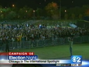 Grant Park Fills Up For Obama Rally