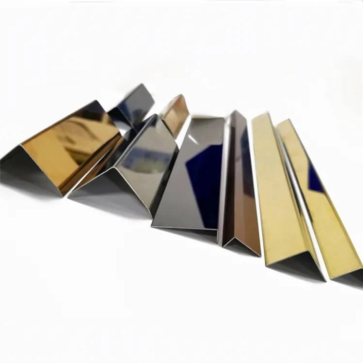 decorative l shape stainless steel 304 edge protection tile trim