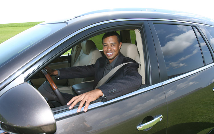 Tiger Woods drives a Buick Enclave!?! You'd think with all that money he'd drive something better!