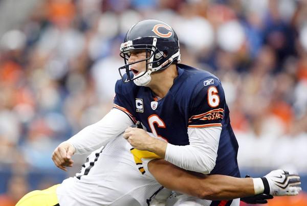 Jay Cutler Bears hit