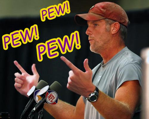 Brett Favre gunslinger