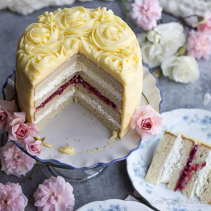 Best Gluten Free Low Carb Birthday Cake Recipe Sugar Free