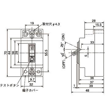 NV-L22GR 20A 100-200V 15MA G Safety Breaker Type Earth