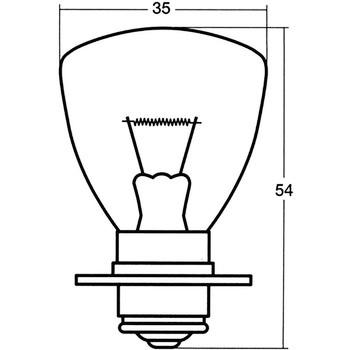 A5575 Headlight and Fog Lamp Bulb Single, 12V STANLEY