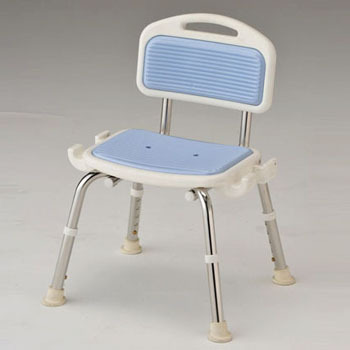 shower chair malaysia orange accent chairs business without elbow blue as one with backrest