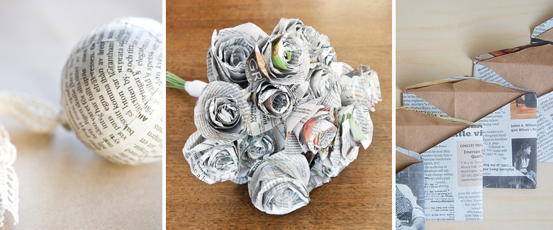 Read All About It 10 Paper Craft Ideas With Newspaper Craft Paper Scissors