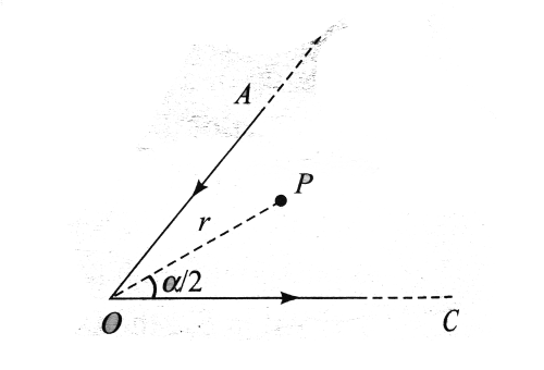 small resolution of angle aoc is the magnitude of magnetic field is point p on the bisector of these two wires at a distance r from point o is