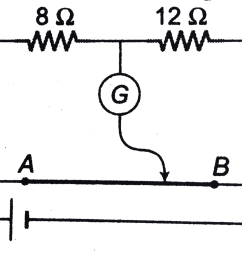where the free end of the galvanometer should be connected on ab so that the galvanometer may show zero deflection  [ 1385 x 1017 Pixel ]