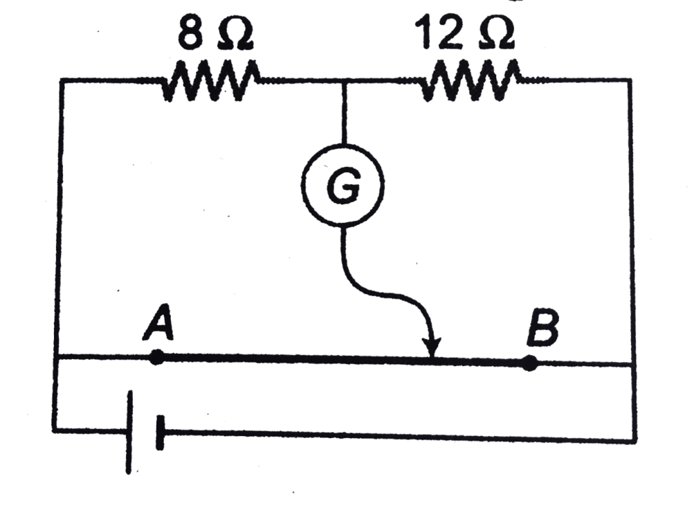 medium resolution of where the free end of the galvanometer should be connected on ab so that the galvanometer may show zero deflection