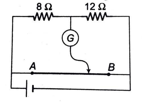 small resolution of where the free end of the galvanometer should be connected on ab so that the galvanometer may show zero deflection