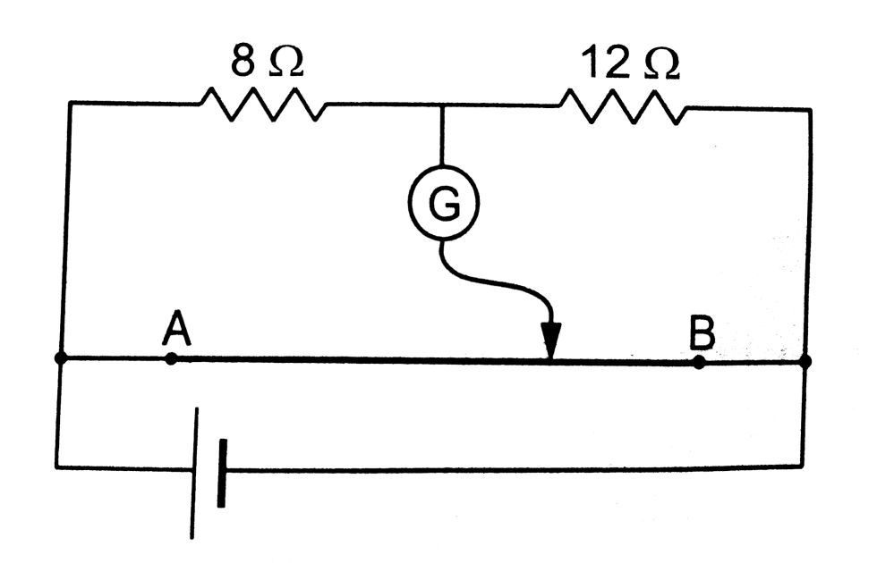 medium resolution of where should the free end of the galvanometer be connected on ab so that the galvanometer may show zero deflection