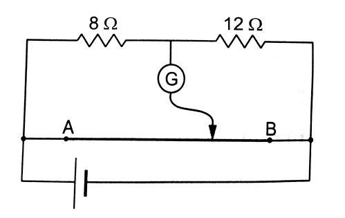 small resolution of where should the free end of the galvanometer be connected on ab so that the galvanometer may show zero deflection