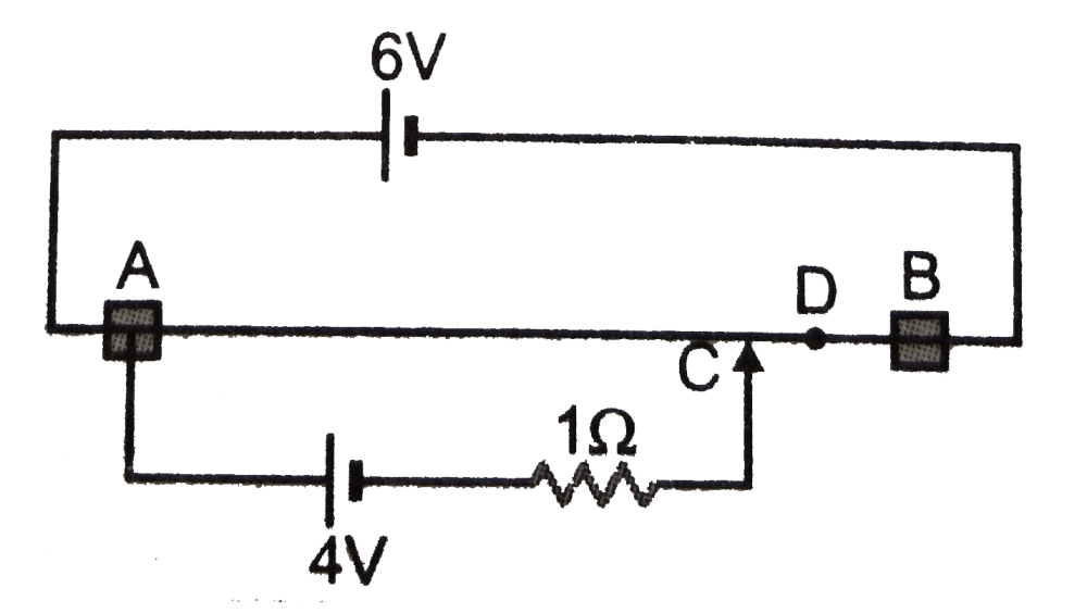 medium resolution of a 6 volt battery of negligible internal resistance is connected across a potentiometer wire is ab of length 100 cm and uniform area of cross section