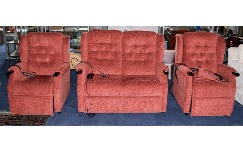 british mobility chairs folding chair mechanism gerrards auctioneers valuers made massaging and reclining sofa by oak tree modern