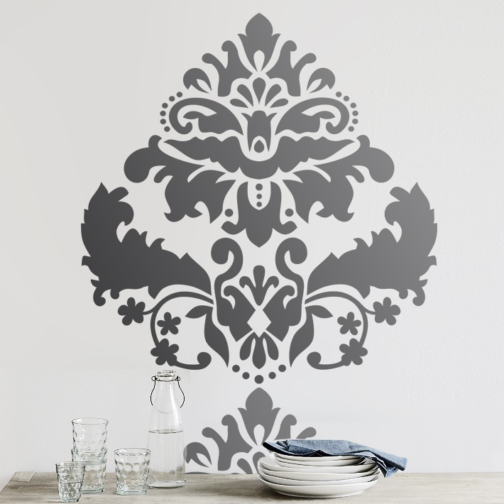 Stencil Boss Large Marquise Damask Wall Stencil Home Decor